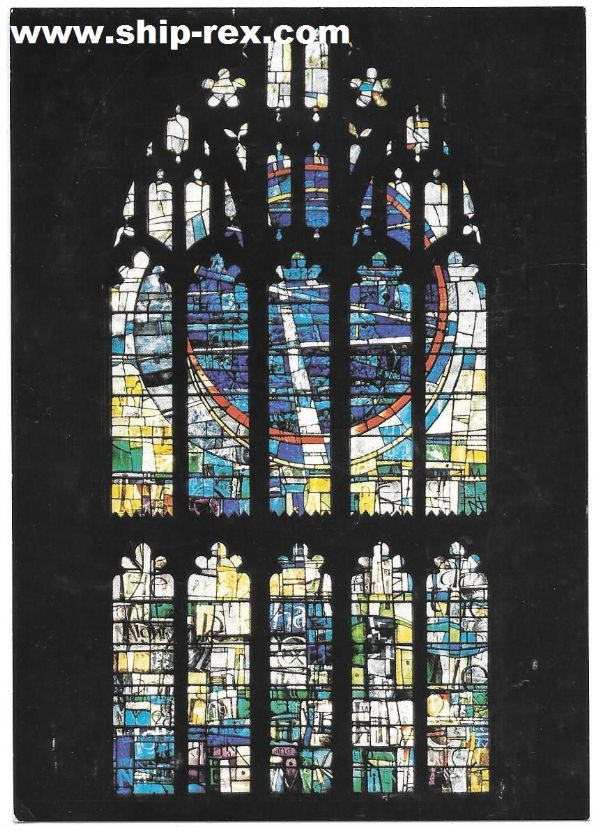 Manchester Cathedral, St Mary window - postcard
